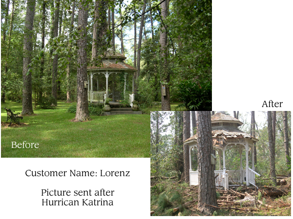 This Vixen Hill Gazebo withstood Katrina's force.