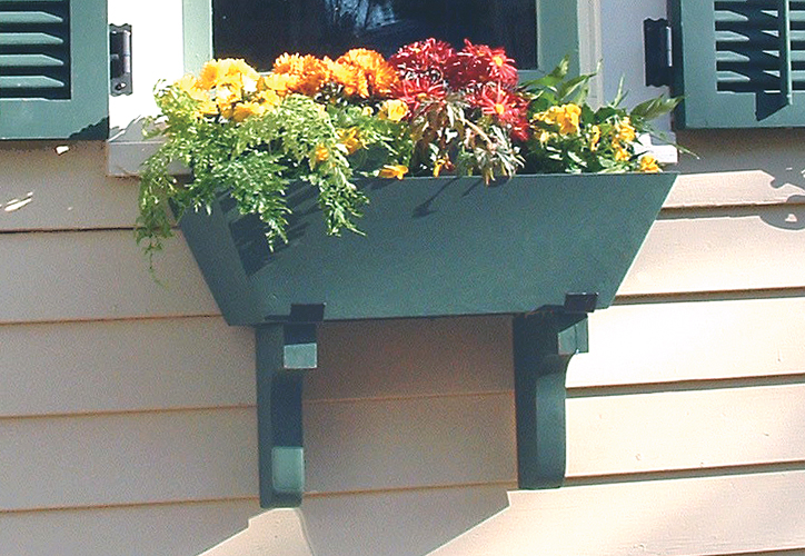 Painted Wood Flower Box