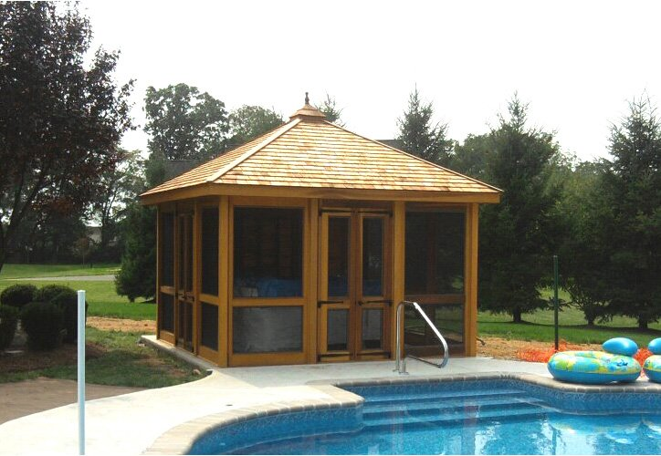 Wooden Pool Shed