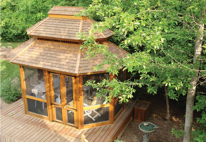 Enclosed Wooden Gazebos