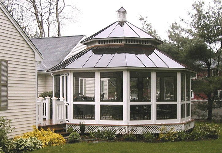 Screened Wooden Gazebo