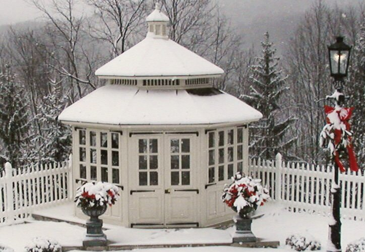 Enclosed Natural Gazebo