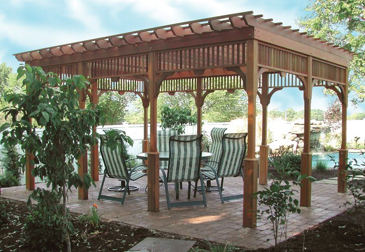 Real Wooden Yard Pergola