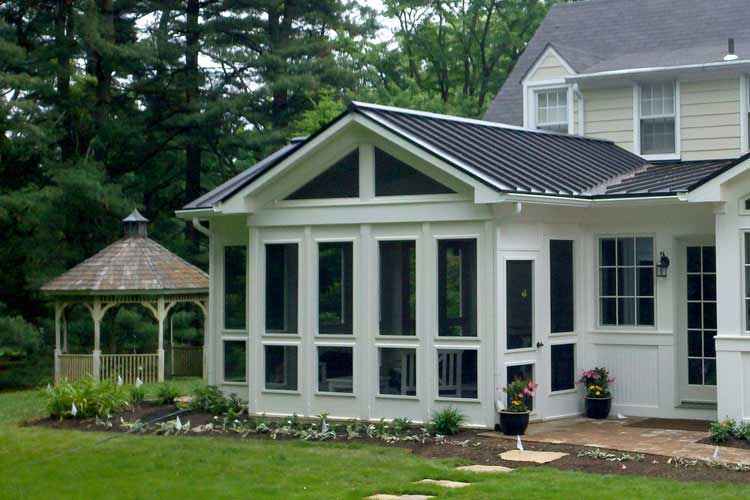 Porch Enclosure System with Screens