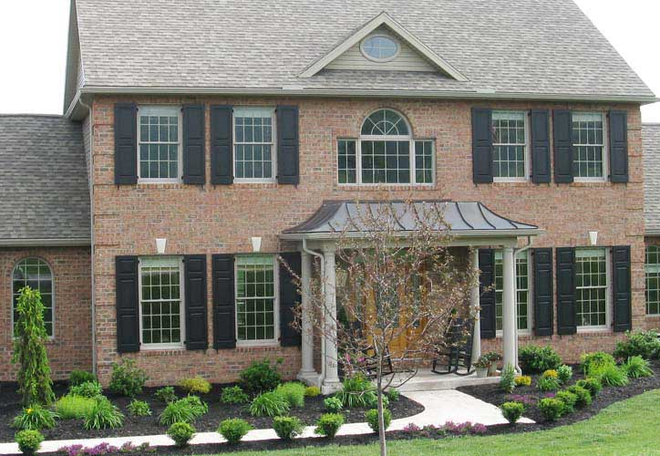Vixen hill shutters for Brick houses without shutters