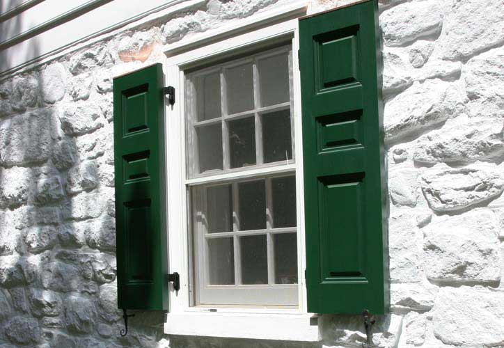 decorative shutters provide visual detailing that gives a home personality - Decorative Shutters