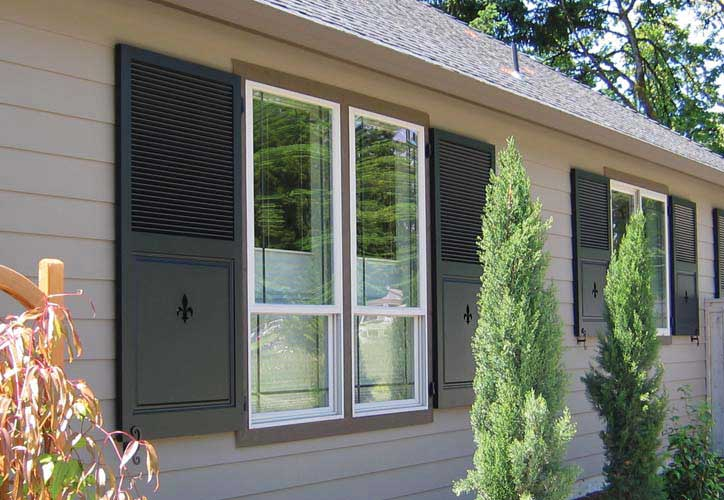 Custom wooden exterior window shutters for sale real wood shutters vixen hill How to make exterior shutters