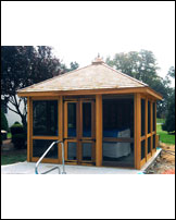 Cabana, 4x4 Construction, Hipped Roof, 12' x 12'