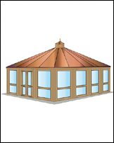 Cabana, 4x4 Construction, Hipped Roof, 12' x 16'