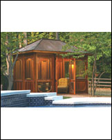 Cabana, 6x6 Construction, Hipped Roof, 8' x 12'